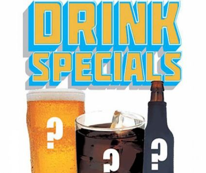 6. Monthly drink specials